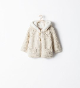 Coat with Fur Lined Hood €27.95